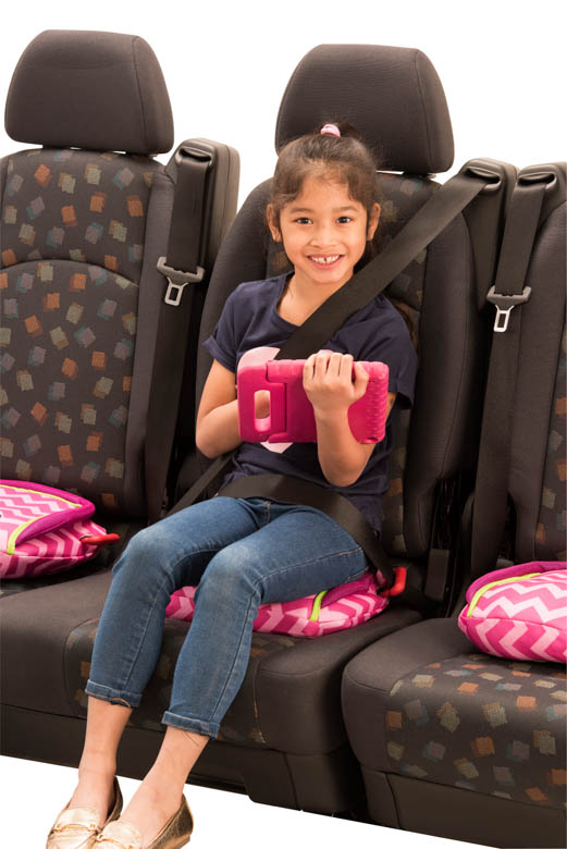 BubbleBum Backless Inflatable Booster Car