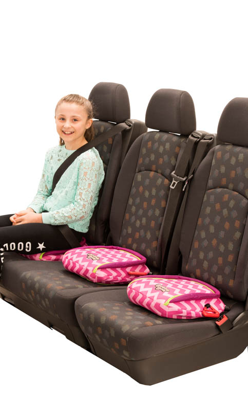 BubbleBum Backless Inflatable Booster Car Seat - Foldable and Portable