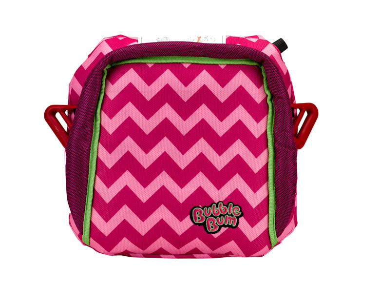 Bubble Backless Inflatable Booster Car Seat Pink Chevron