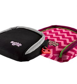BubbleBum black and pink booster seat twin pack