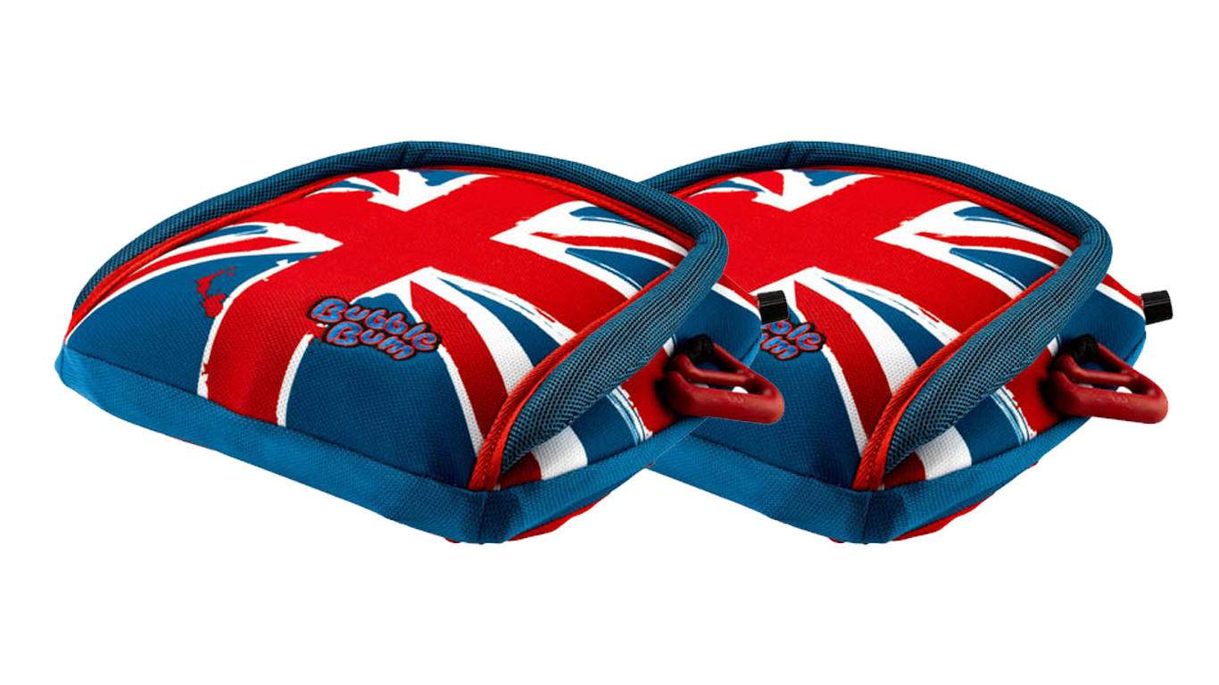 BubbleBum car booster seat twin bundle union jack design