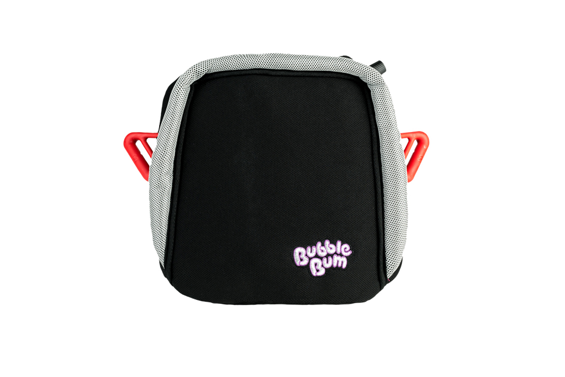 BubbleBum portable car booster seat black design front