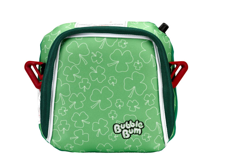 BubbleBum portable car booster seat shamrock design front