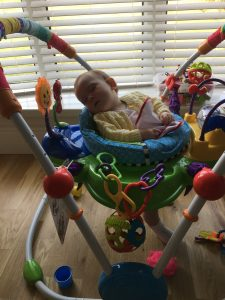 Parenting Fail. I forgot about my baby's nap-time and she fell asleep in her Jumparoo!